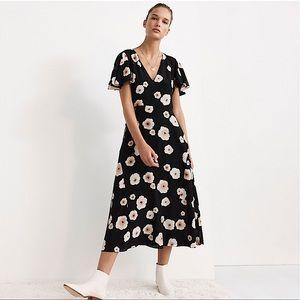 Club Monaco Silk Floral Zameeka Dress